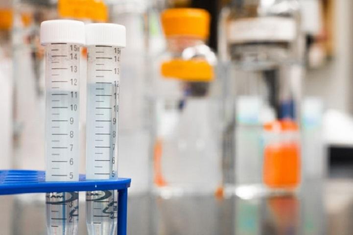 Provtuber i ett labb